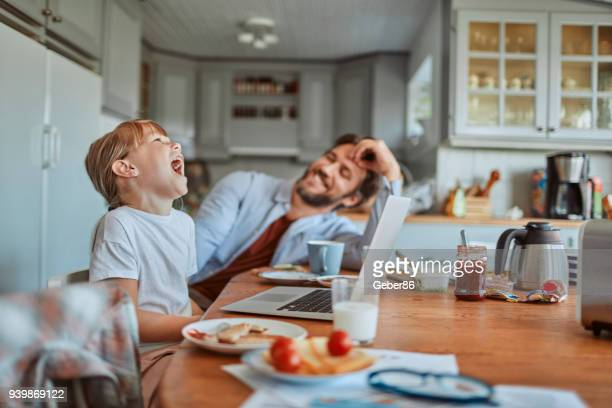 family having breakfast - nordic countries stock pictures, royalty-free photos & images