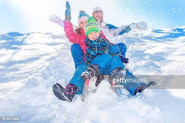 Familie Spaß im winter