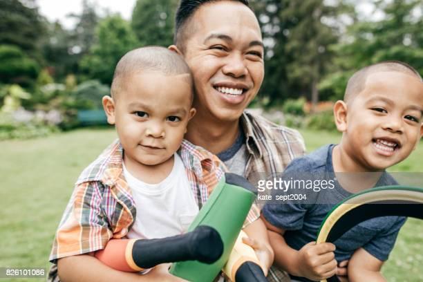 Family having fun outdoor