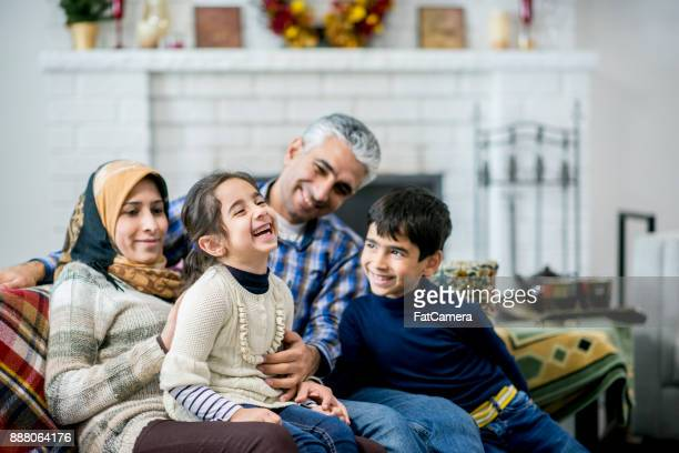 family having fun - middle east stock pictures, royalty-free photos & images