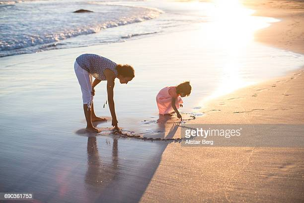 Family having fun together on the beach