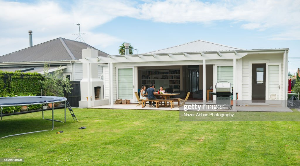 Family having lunch at home. : Stock Photo