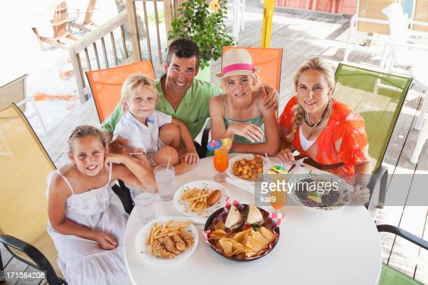 Family having lunch