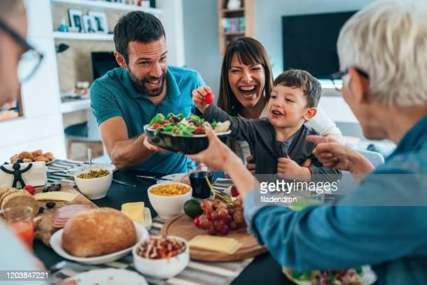 brunch saudável para a família - lunch - fotografias e filmes do acervo