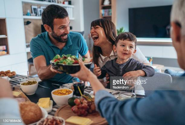 family healthy brunch - vegetarian food stock pictures, royalty-free photos & images