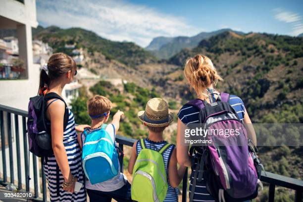 Family hiking in Andalusia, Spain