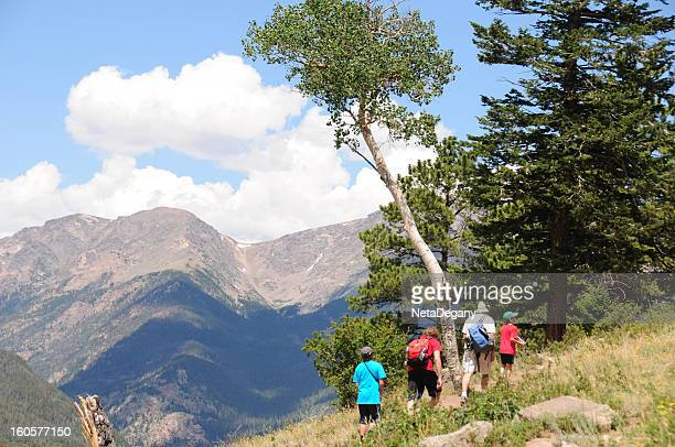 Family Hiking in Rocky Mtns National Park, Colorado