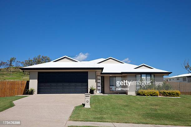 family home front - facade stock pictures, royalty-free photos & images