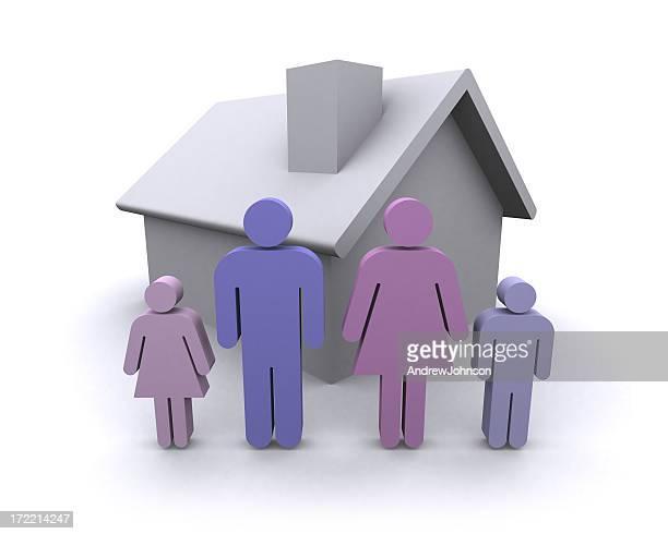 Famiglia a casa