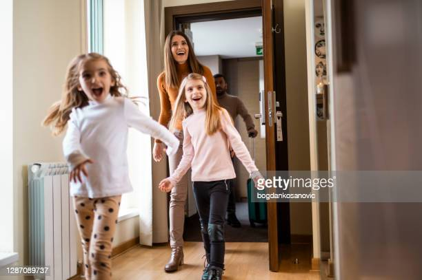 family hotel - entering stock pictures, royalty-free photos & images