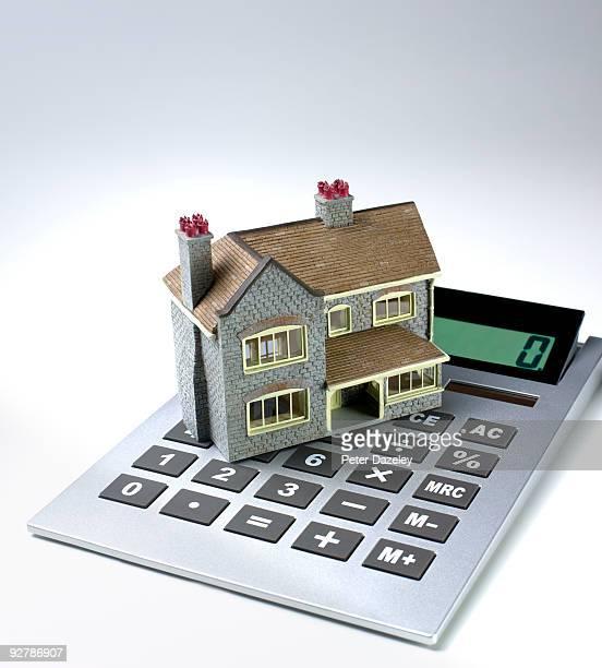 Family house on calculator.