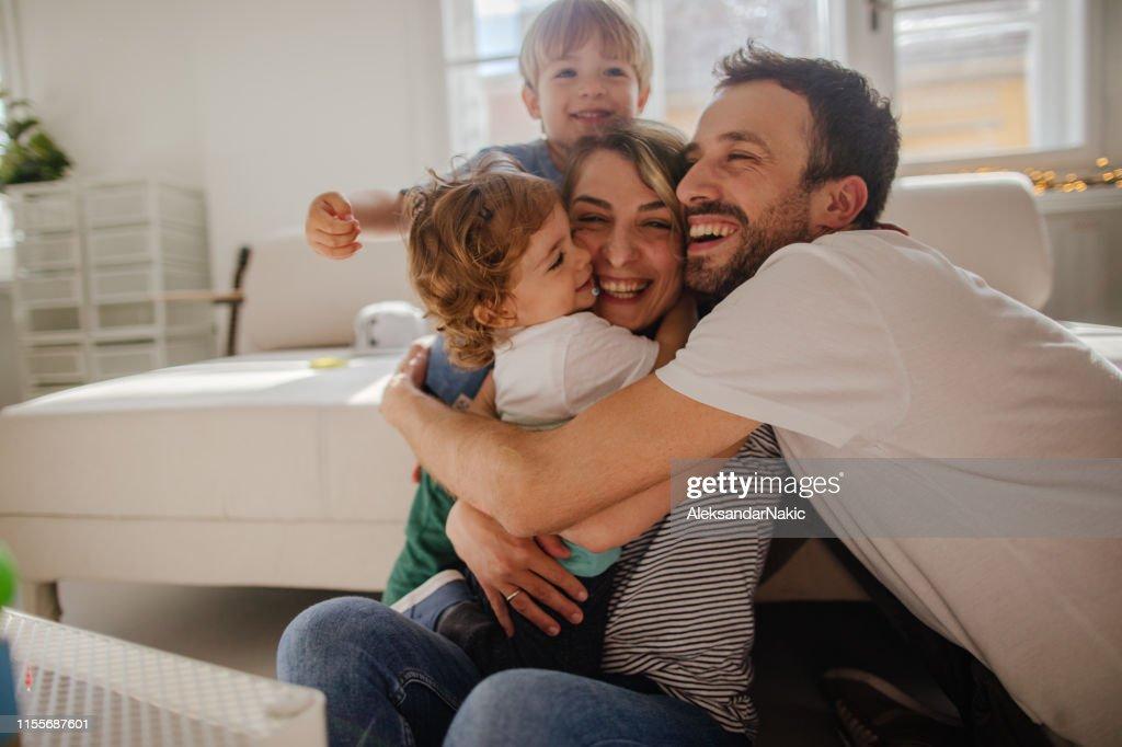Family hug : Stock Photo
