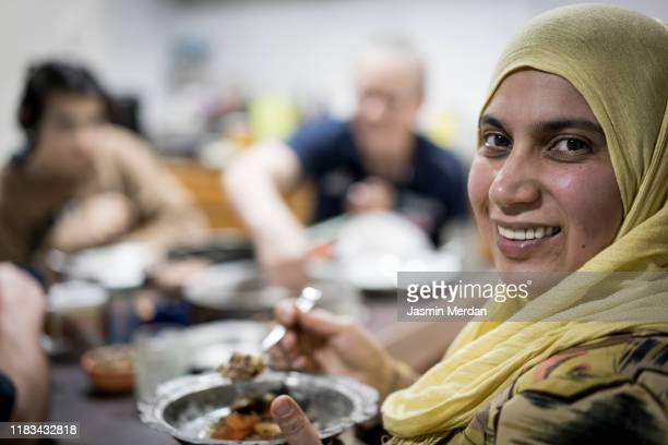 family iftar meal in ramadan - iftar stock pictures, royalty-free photos & images