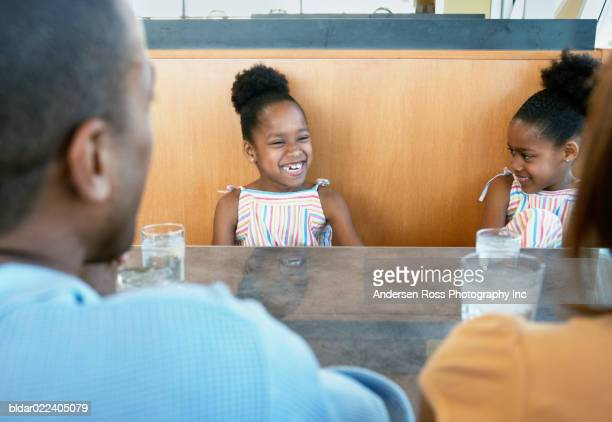 Family in a restaurant