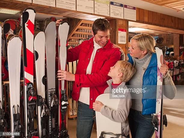 Family in a Ski Shop