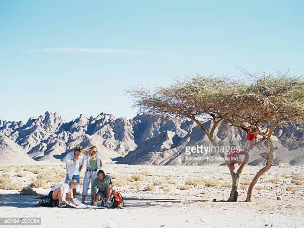 Family in Desert