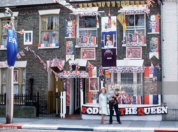 Family in Fulham London Preparing Their Home For A Street Party To Celebrate The Queen's Silver Jubilee