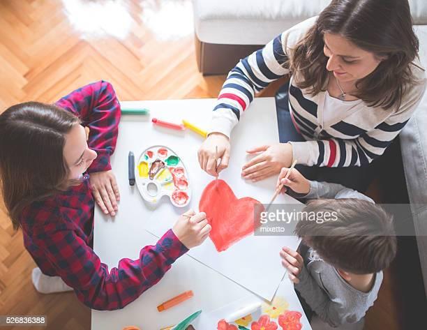 Familie in Herz