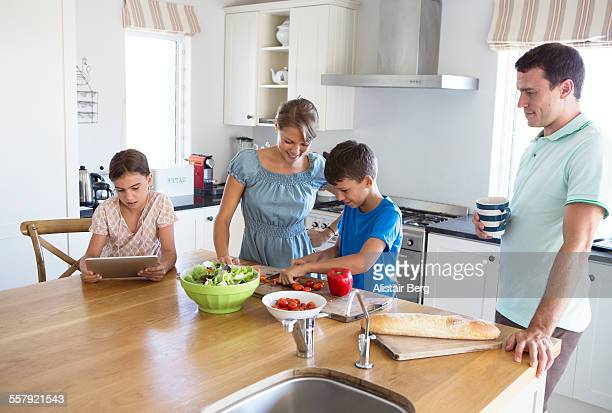 Family in Kitchen together
