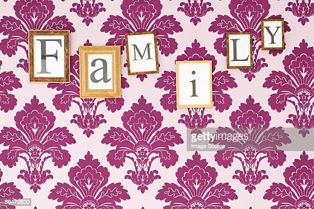 Family in picture frames