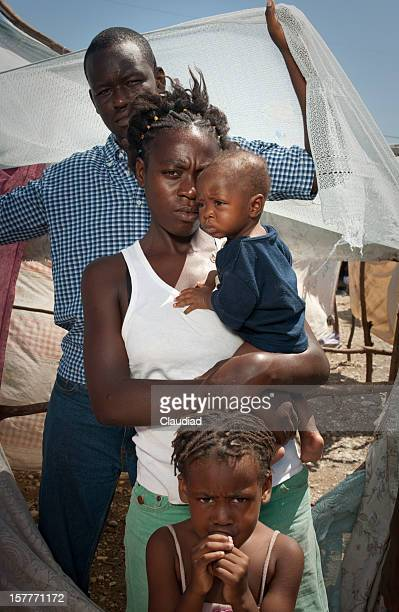 Family in refugee camp