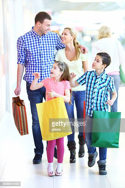 Family in shopping.
