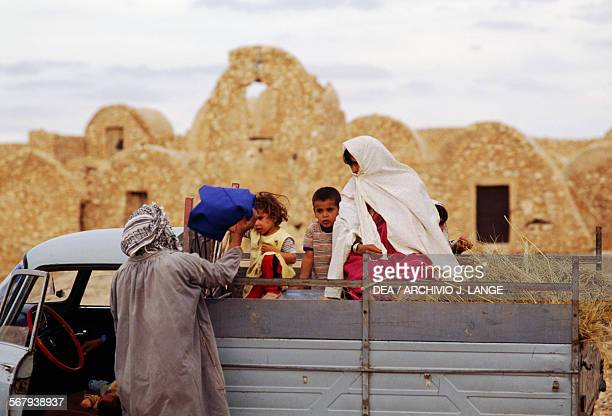 Family in the bed of a truck ElFerech Tunisia