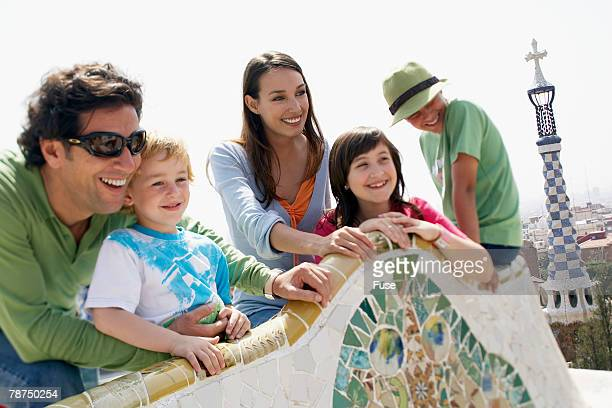 Family in the Parc Guell