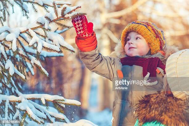 Familia en invierno
