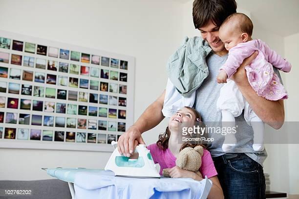 Family ironing
