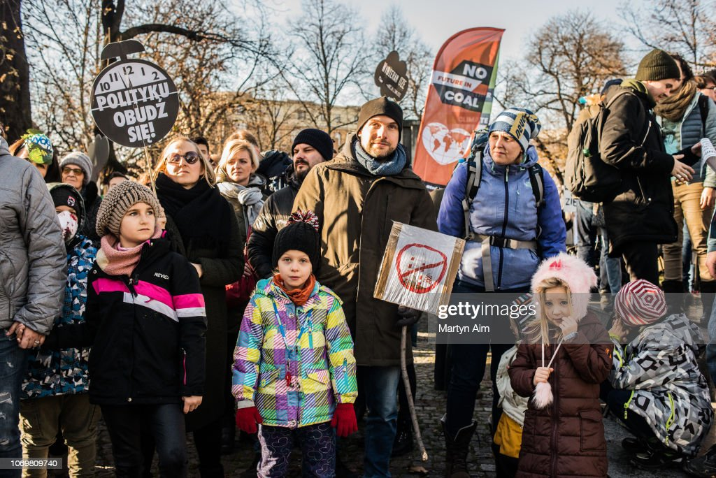 Protesters March In Katowice Amid Climate Summit : News Photo