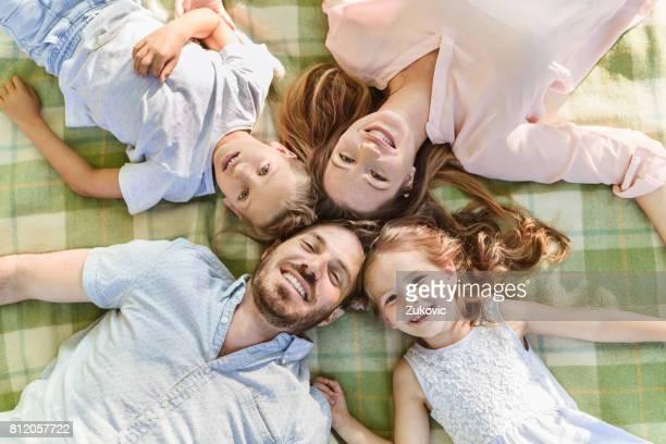 Familie Lachen zur Festlegung