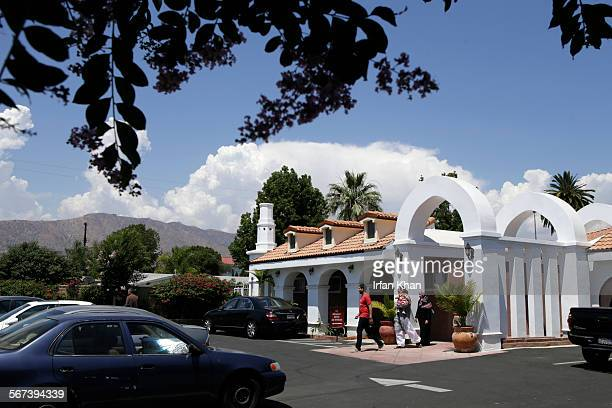 JULY 04 2014 A family leaves mosque Masjid AlFatiha after a Friday prayers on July 04 2014 in Azusa