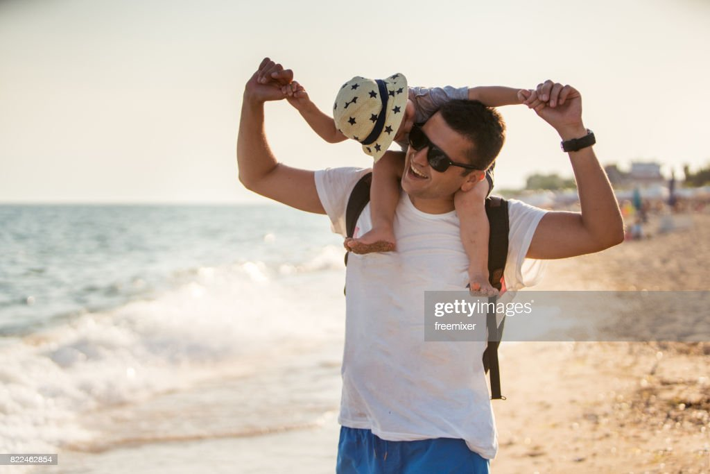 Family love on the beach : Stock Photo