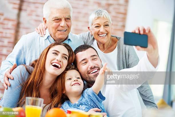 Familie, selfie