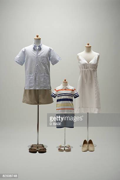 family mannequin dressing a casual clothing.