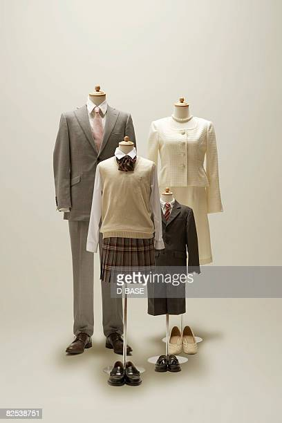 family mannequin dressing a formal wear.