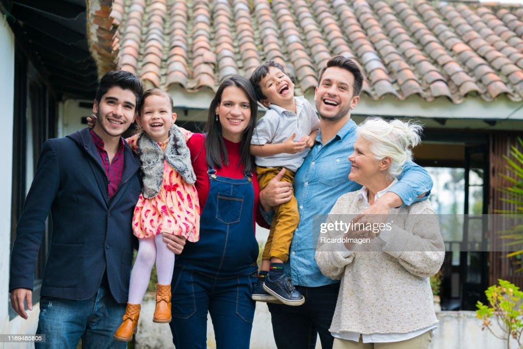 Family meeting : Stock Photo