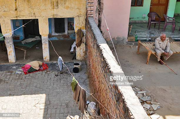 A family member of Akhlaq performing afternoon prayers at neighbour's house at Bisada villageon October 1 2015 in Greater Noida India Akhlaq was...