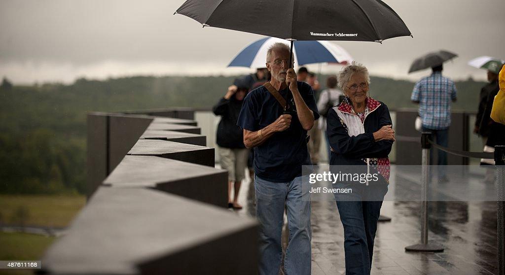 Flight 93 National Memorial Visitor Center Holds Dedication Ceremony : News Photo