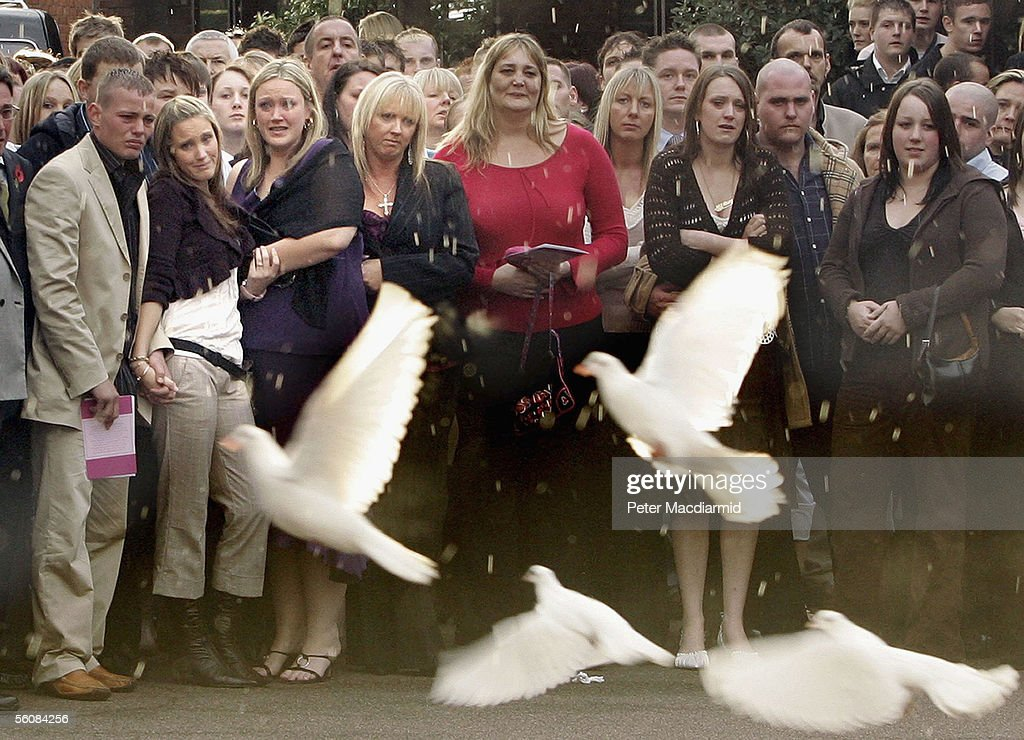 Funeral Of Murdered Model Sally Anne Bowman : News Photo