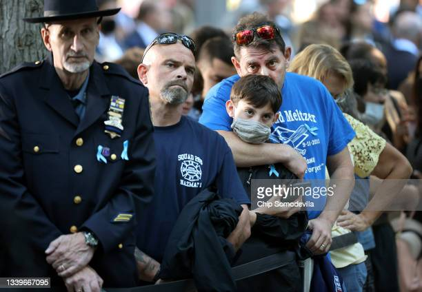 Family members and loved ones of Stuart Todd Meltzer attend the annual 9/11 Commemoration Ceremony at the National 9/11 Memorial and Museum on...