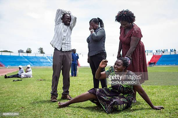 Family members are overcome with grief after learning that a relative was killed by Somalia's Shebab Islamists during the siege on the Garissa Campus...