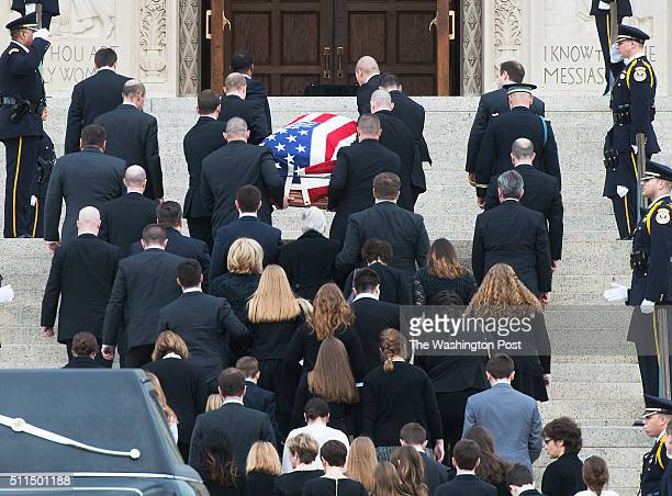 Family members attend the Memorial service for Associate Justice Antonin Scalia at the Basilica of the National Shrine of the Immaculate Conception...