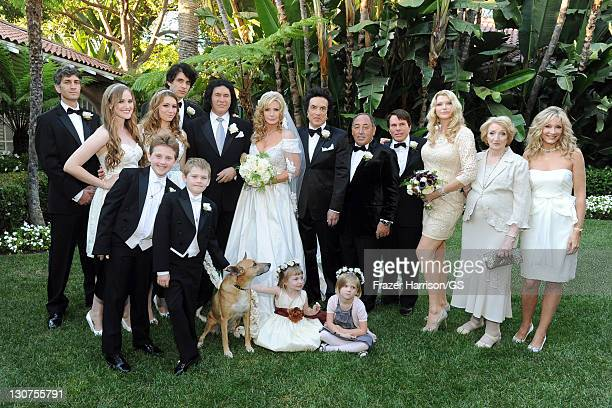 Family members attend the wedding of Gene Simmons and Shannon Tweed at the Beverly Hills Hotel on October 1 2011 in Los Angeles California