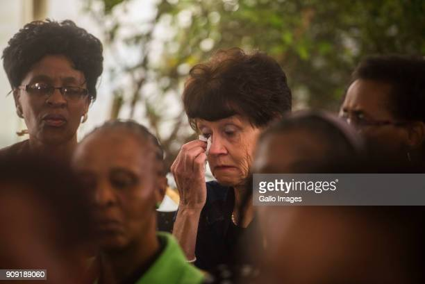 Family members breakdown during the testimony of former Gauteng Health MEC Qedani Mahlangu at the Life Esidimeni arbitration hearings on January 22...