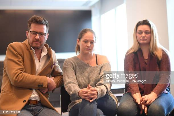 Family members father Peter stepmother Joanne and sister Lucy of murdered teenager Jodie Chesney speaking at New Scotland Yard in London