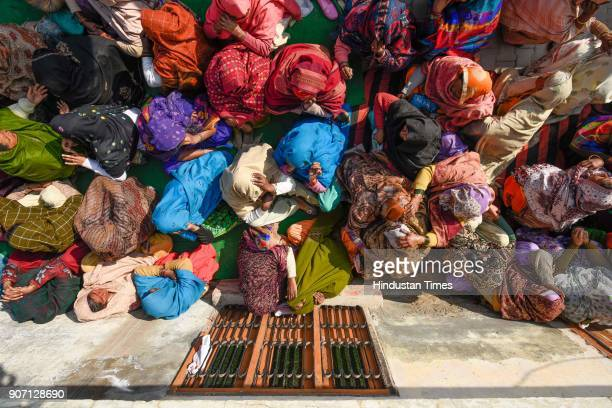 Family members of 12th class student mourn on his death at their village in Jhansa on January 19 2018 in Kurukshetra India A Class 12 student who was...