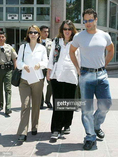 Family members of actor Robert Blake daughter Delinah niece Noreen Austin and son Noah exit the Los Angeles Superior Court after a hearing for Blake...