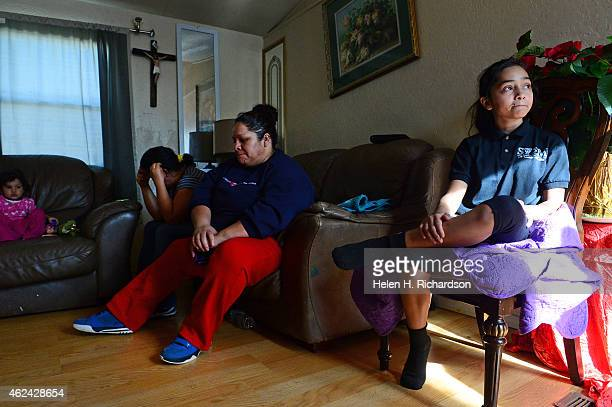 Family members of Jessica Jessie Hernandez mourn her loss at their home in Thornton CO on January 27 2015 They are from right to left Laura Hernandez...